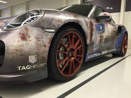 porsche vinyl porsche 911 turbo gets rusty wrap salutes barn find time