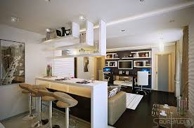 White Open Plan Kitchen Lounge Interior Design Ideas Open Kitchen - Lounge interior design ideas