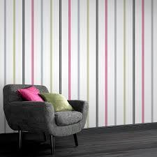 Grey Wallpaper Living Room Uk Signature Stripe Multi Coloured Wallpaper By Laurence Llewelyn