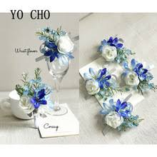 Royal Blue Corsage And Boutonniere Online Get Cheap Blue Prom Corsages Aliexpress Com Alibaba Group