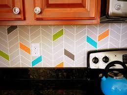 painted backsplash ideas kitchen