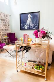 style ideas for your bar cart confettistyle