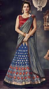 engagement sarees wedding and engagement choli lehenga saree ms471745