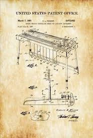 Music Decor Fender Steel Guitar Patent 1961 Patent Print Music Poster
