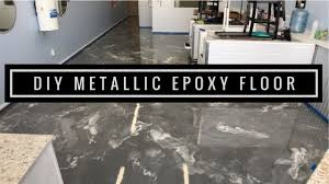 learn to install metallic epoxy floor coating silver base and