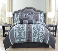Black And Teal Comforter Gray Comforter Set Queen U2013 Rentacarin Us