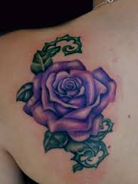 purple rose tattoo tattoos