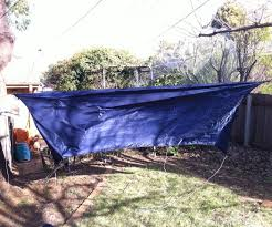 easily adjustable hammock tarp and gear ridgeline 4 steps
