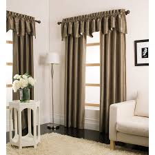 shop allen roth florence 95 in taupe polyester rod pocket light