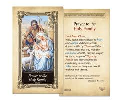 laminated holy cards holy family laminated prayer card prayer