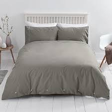 Cheap Cotton Bed Linen - sainsbury u0027s home nordic skies plain grey brushed cotton bed linen