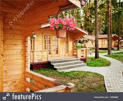 residential architecture new wooden houses stock photo i2939986