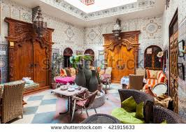 moroccan riad floor plan arab inside morocco house traditional stock images royalty free
