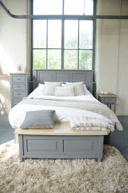 King Size Shabby Chic Bed by Painted Pine Shabby Chic Storm Grey King Size 5ft Headboard 4
