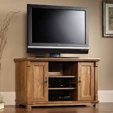 sauder tv armoire furniture custom sauder tv stand made of wood with storage on
