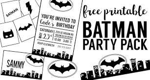 free batman party printables paper trail design