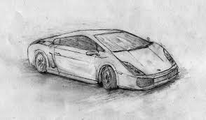 sketch of lamborghini gallardo 3d car pencil sketches drawing of sketch
