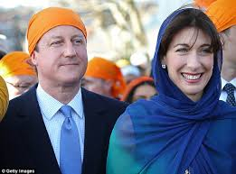 cameron worships at sikh temple hours after attending festival of