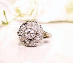 antique platinum art deco engagement ring 0 73ctw diamond cluster