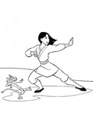 mulan coloring pages index