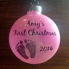 personalized baby u0027s first christmas in heaven ornament laser