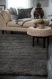 living room gray shag rug with shag rug carrera brown hand tufted