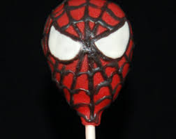 spiderman cake pops etsy