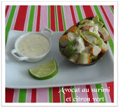 cuisiner le surimi avocat et surimi au citron vert et piment la cuisine des anges