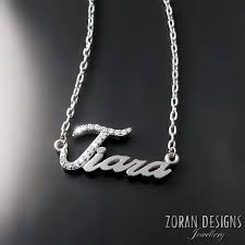 Custom Necklace Name Custom Jewellery Design U2014 Zoran Designs Jewellery