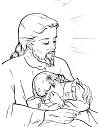 jesus our comforter catholic coloring page catholic coloring