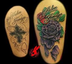32 best black rose cover up tattoos images on pinterest arsenal