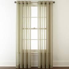 Sheer Panel Curtains Royal Velvet Crushed Voile Grommet Top Sheer Panel Jcpenney