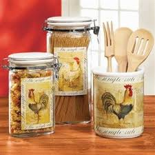 rooster kitchen canister sets 133 best rooster canisters images on rooster decor
