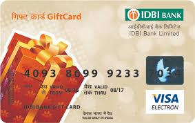 bank gift cards idbi bank giftcard idbi delight