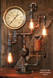 industrial lamp steam gauge and oiler gear 1247