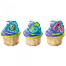 monsters inc cake toppers cupcake rings toppers picks monsters inc monsters inc