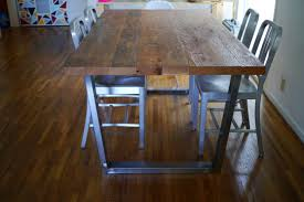 Solid Top Dining Table by Sheet Metal Top Dining Table Google Search Industrial Chic