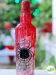 Decorate Water Bottle Diy Easy And Spooky Halloween Decorations Fab How