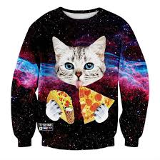 galaxy sweater galaxy cat tacos and pizza sweater shut up and take my