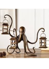 Steampunk Furniture Anecdotal Aardvark Steampunk Aluminum Octopus Lantern