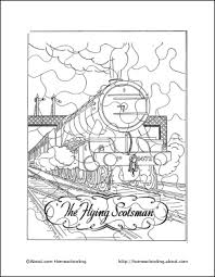 homeschooling trains coloring book