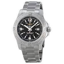 breitling steel bracelet images Pre owned breitling colt black dial stainless steel men 39 s watch jpg