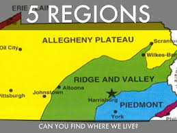A Map Of Pennsylvania by Pa Regions By Matt Brewer