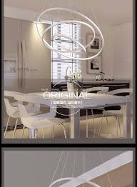 illuminazione sala da pranzo moderne a sospensione per la sala da pranzo 3 2 1 anelli
