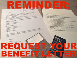 reminder to always request your hotel benefit letter as status