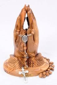 catholic gifts praying with rosary catholic memorial gift holy land