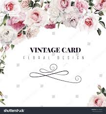 Invited Card For Birthday Greeting Card Roses Watercolor Can Be Stock Illustration 541783435
