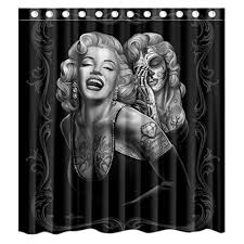 Zombie Pinup Shower Curtain by Popular Zombie Marilyn Curtain Shower Buy Cheap Zombie