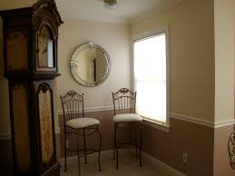 astounding two tone walls with chair rail 78 for house decorating