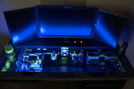 pc bureau gamer bureau pc gamer grand bureau gamer le des geeks et des gamers
